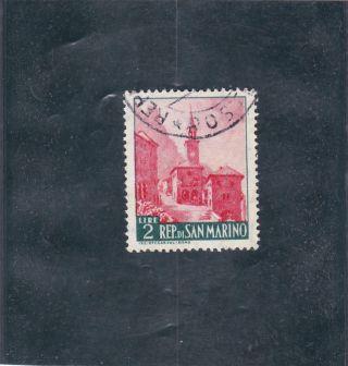 San Marino 1957 - Borgo Maggiore - Stamp Mi 562 photo