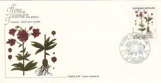 (22359) Fdc France - Wild Flowers - Turk ' S Cap / Martagon 1983 photo