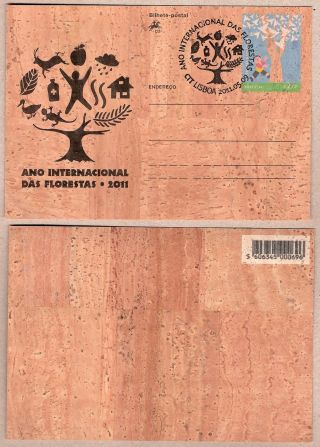 Commemorative Cork Made Postal Stationery International Year Of Forests 2011 photo
