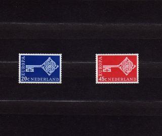 Netherlands 452 - 53 Europa Cept 1968 Key With C.  E.  P.  T.  Emblem photo