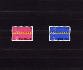 Netherlands 488 - 89 Europa Cept 1971 Fraternity,  Cooperation,  Common Effort photo