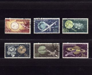 Czechoslovakia 1169 - 74 Various Space Rockets & Satellites photo