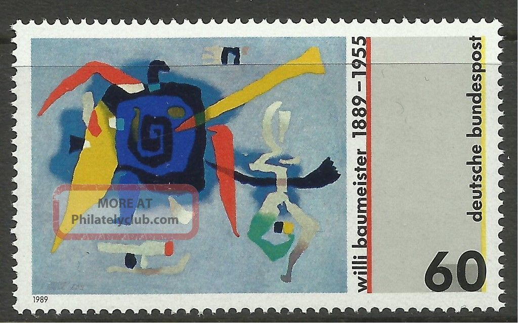 Germany.  1989.  Willi Baumeister Commemorative.  Sg: 2261. . Europe photo