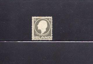 Iceland 1911 Scott 89 Hinged photo