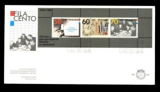 Netherlands 1984 Stamp Exhibition M/s Fdc C3159 photo