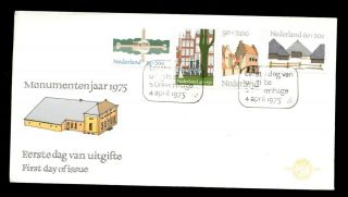 Netherlands 1975 National Monument Year Fdc C3158 photo
