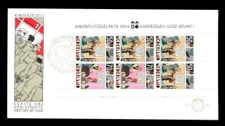 Netherlands 1984 Child Welfare,  Strip Cartoons M/s Fdc C3160 photo