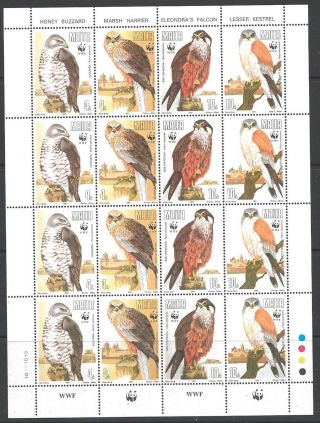 Malta Sg898/901 1991 Birds Sheetlet photo