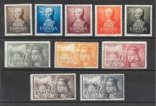 Spain: Scott 781 To 85 (not Gum Nh,  Queen Isable I Total+55$ photo