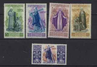Italy 1948 Sg 698 - 702 3l - 100l St.  Catherine Of Siena A2357 photo