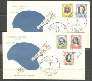 Paintings Famous Painters Italy 1974 Sc 1123 - 27 2fdc ' S photo