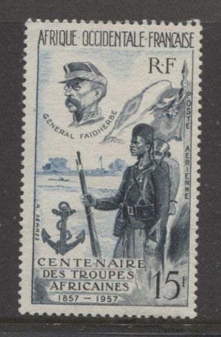 1957 French Colonies West Africa 15 Fr.  Air Mail Issue photo