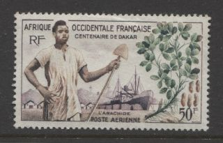 1958 French Colonies West Africa 50 Fr.  Air Mail Issue photo