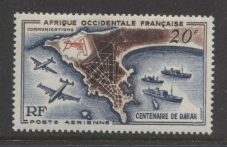 1958 French Colonies West Africa 20 Fr.  Air Mail Issue photo