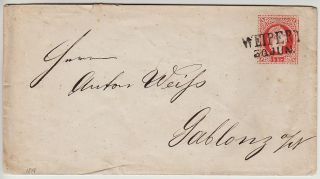 Austria 1867 5kr Postal Stationery Cover Weipert (böhmen) To Gablonz. photo