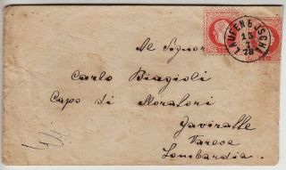 Austria 1867 5kr Postal Stationery + 5kr,  Cover To Italy photo