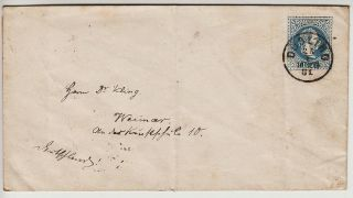Austria 1867 10kr Postal Stationery Cover DÖbling To Weimar.  Fake??? photo