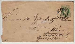 Austria 1867 3kr,  Postal Stationery Cover.  Neubau/wien Canc. photo