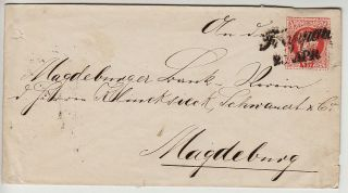 Austria 1867 5kr Postal Stationery Cover Troppau (schlesien) To Magdeburg. photo