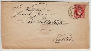 Austria 1867 5kr Postal Stationery Cover,  Prelouc (böhmen) To Kollin photo