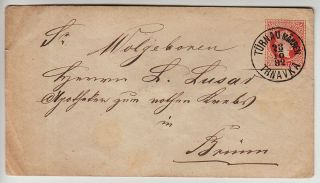 Austria 1867 5kr Postal Stationery Cover,  TÜrnau Mahren/trnavka,  Kl:90point photo