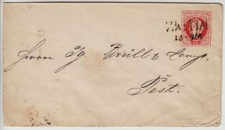 Austria 1867 5kr Postalstatioenery Cover,  Zwittau (mähren) Kl:30point photo