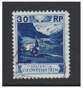 Liechtenstein - 1930,  30r Blue - Perf 10 1/2 Stamp - F/u - Sg 101a photo