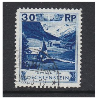 Liechtenstein - 1930,  30r Blue - Perf 11 1/2 Stamp - F/u - Sg 101b photo