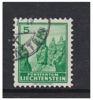 Liechtenstein - 1933/5,  5r View (grilled Gum) Stamp - - Sg 128a photo