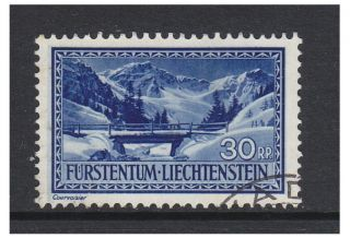 Liechtenstein - 1933/5,  30r Saminatal Stamp - F/u - Sg 133 photo