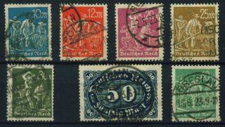 (u29) Germany 1923,  Michel Cat.  239 - 244,  246, photo