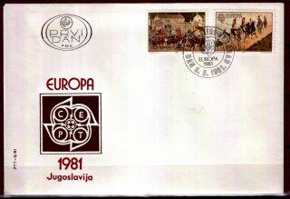 1884 - Yugoslavia 1981 - Europa Cept - Fdc photo