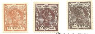 Spanish Colony Elobey Ed 42,  47,  75 (ref P96) photo