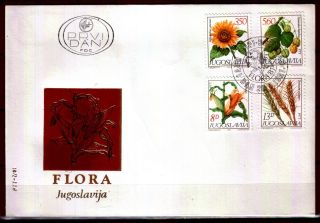 1889 - Yugoslavia 1981 - Flora - Grains - Fdc photo