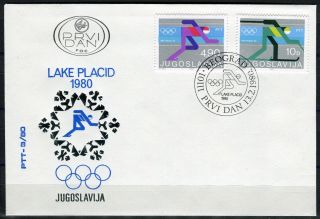 1822 - Yugoslavia 1980 - Lake Placid Winter Olympics - Fdc photo