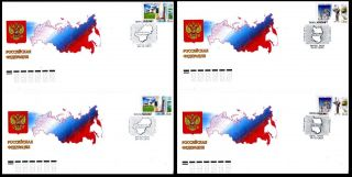 2011.  Russia.  Regions.  Kaluga And Omsk Regions.  Fdcs photo
