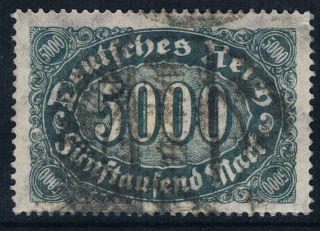 Germany 1922 1923 Litho 5000m Dark Greyish Green Clear Watermark photo