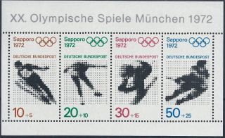 Germany 1971 Sg Ms1593 Winter Olympics Sapporo Mini Sheet A 012 photo