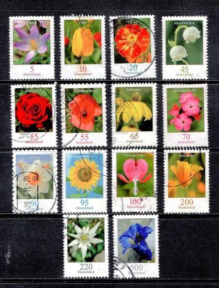 Germany. .  2005 - 11. .  Flowers. .  Includes High Face Values. .  Cv Is Over £46 Pounds.  4151 photo