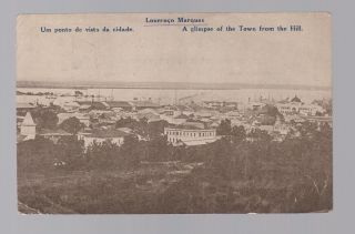 1924 Mozambique Real Picture Postcard Cover To Austria View Of Lourenco Marques photo