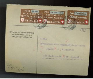 1942 Switzerland Censored Airmail Cover To Germany photo