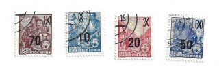 German Republic Overprints 4 Different photo