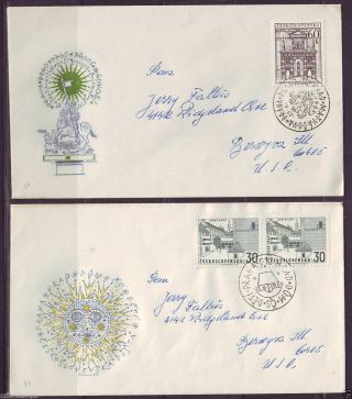 Czechoslovakia,  Fdc Sent To Usa,  1323 - 24,  The Hradcany,  Prague photo