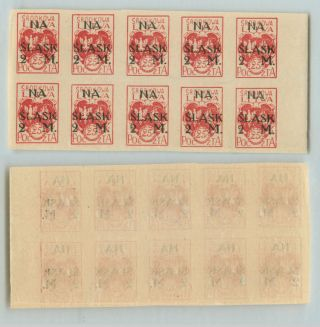 Central Lithuania,  1921,  Sc B1, ,  Imperf,  Block Of 10.  D5779 photo