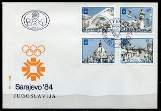 1951 - Yugoslavia 1982 - Winter Olympic Games – Sarajevo - Bosnia - Fdc photo