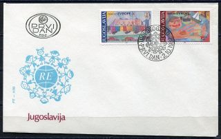 1946 - Yugoslavia 1982 - Joy Of Europa – Fdc photo