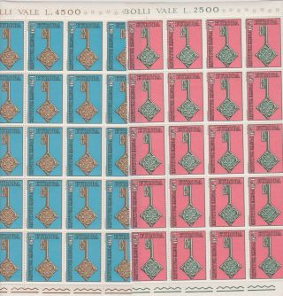 Vatican City 1/2 Sheet Of 20 Scott 979 - 980 Europa photo