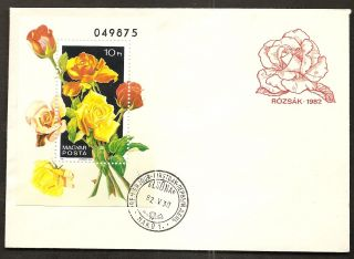 Hungary - 1982 Cacheted/unaddressed Fdc W/souvenir Sheet - Rn619ak photo