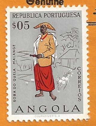 Angola Republica Portuguesa $05 Soba Do Quela Malange photo