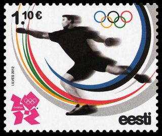 Stamp Of Estonia Estland Estonie 2012 - London 2012 Olympic Games photo